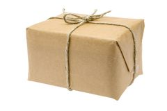 Brown-Paket Lizenzfreie Stockfotos