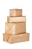 Brown-Pakete Lizenzfreie Stockfotos
