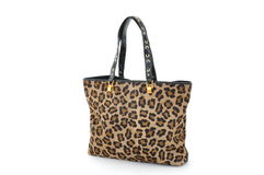 Brown panther Women bag Royalty Free Stock Images
