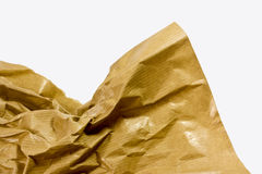 Scrunched brown paper Royalty Free Stock Photos