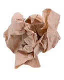 Brown paper. Wrinkled up brown paper ball Stock Photography