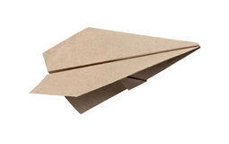 Brown Paper aircraft Stock Photo