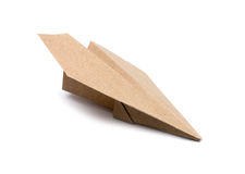 Brown Paper aircraft Royalty Free Stock Image