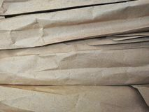 Brown paper arranged in layers royalty free stock photos