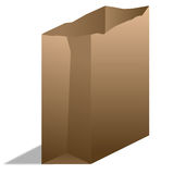 Brown Paper Bag. A brown paper bag from the side Stock Image