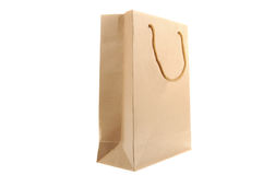 Brown Paper Bag. Isolated on a white background Royalty Free Stock Photo