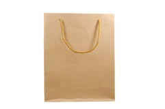 Brown Paper Bag. Isolated on a white background royalty free stock image
