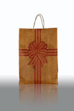 Brown Paper Bag. On White Background Stock Photos