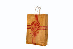 Brown Paper Bag. On White Background Royalty Free Stock Photo