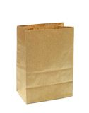 Brown paper bag. Brown recycle paper bag on white background Stock Photography