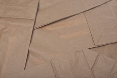 Brown Paper Bag Background Stock Images