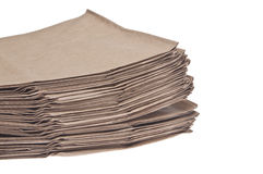 Brown Paper Bag Background Royalty Free Stock Photography
