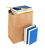 Bag and books Stock Photo
