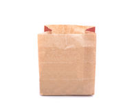 Brown paper bag for food isolated on white Stock Image