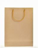 Brown paper bag. With handle stock image