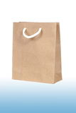 Brown paper bag on isolate white Royalty Free Stock Photo