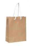Brown paper bag on isolate white Stock Photos