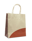 Brown paper bag isolated Royalty Free Stock Photo