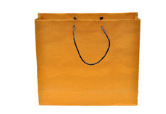 Brown paper bag isolated Stock Photography