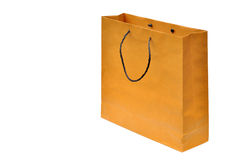 Brown paper bag isolated Stock Images
