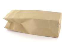 Brown paper bag isolated Stock Image