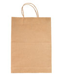 Brown paper bag isolated Stock Photos