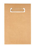 Brown paper bag isolated Stock Photo
