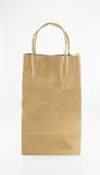 Brown paper bag isolated package Stock Photo