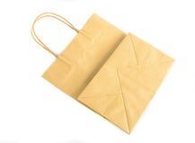 Brown paper bag Stock Image