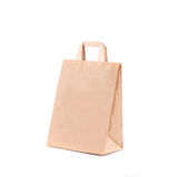 Brown paper bag. Royalty Free Stock Photo