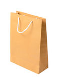 Brown paper bag isolated on white background Stock Photos
