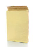 Brown Paper Bag and Isolated on White Background Stock Images