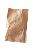 Brown paper bag. Isolated on white background Stock Image