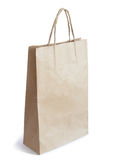 Brown Paper Bag Isolated on White Background Stock Photography