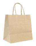 Brown paper bag isolated on white Royalty Free Stock Images