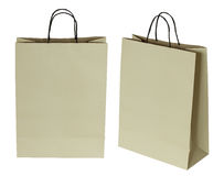 Brown paper bag isolated on white Royalty Free Stock Photo