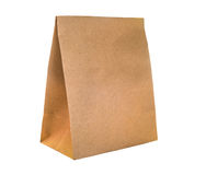 Brown paper bag packaging for environment Royalty Free Stock Photo