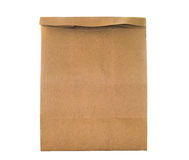 Brown paper bag packaging for environment Stock Photography