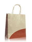 Brown paper bag on reflect floor Stock Photo