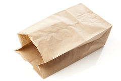 Brown Paper Bag Sack Lunch Stock Photography