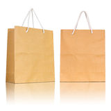Brown paper bag on white background Stock Image