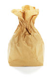 Brown Paper Bag. On White Background royalty free stock images