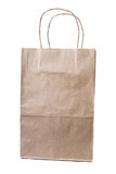 Brown paper bag  on white background Royalty Free Stock Images