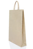 Brown paper bag on white background include path Royalty Free Stock Photo