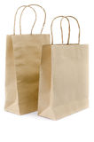 Brown paper bag on white background Royalty Free Stock Photo