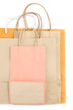 Brown paper bag on white background Stock Photography