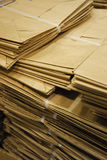 Brown paper bags. In a pile Royalty Free Stock Image