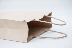 Brown paper bags isolate on white background Stock Images