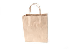 Brown paper bags isolate on white background Stock Photos