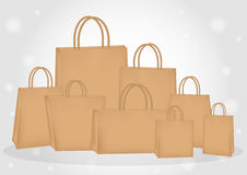 Brown paper bags Stock Image